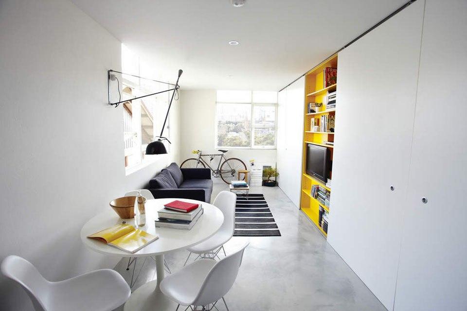 3 цвета для зонирования студии 27 м в Сиднее / Австралия - http://kvartirastudio.