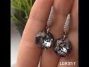 Серьги в цвете Серебряной ночи Crystal Silver Night с великолепной огранкой Classic Cut от Swarovski💎🖤