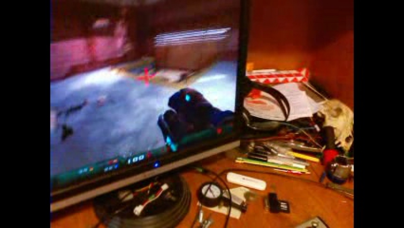 Nexuiz on two AMD plus NVIDIA plus bkup