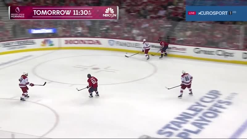 NHL 1819, SC, EC Round 1, Game 2. Carolina Hurricanes - Washington Capitals [13.04.2019, Eurosport]