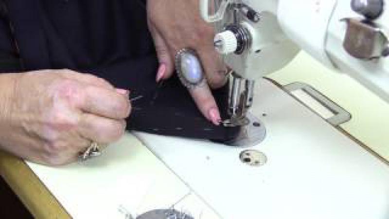 Упаковка шлицы упаковка низа с подкладом к многофункциональному платью Часть 7