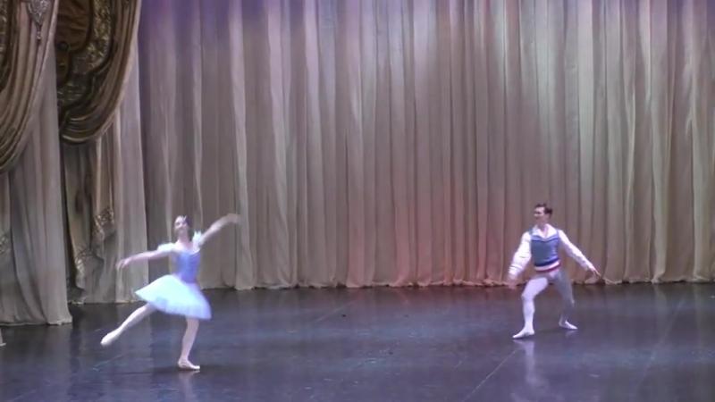 05.08.2018 Sofia Matyusheskaya, Sergei Krylov, Flames of Paris var and coda, Hermitage Theatre