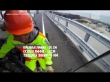 Строители начали наносить разметку на автодорогу Крымского моста