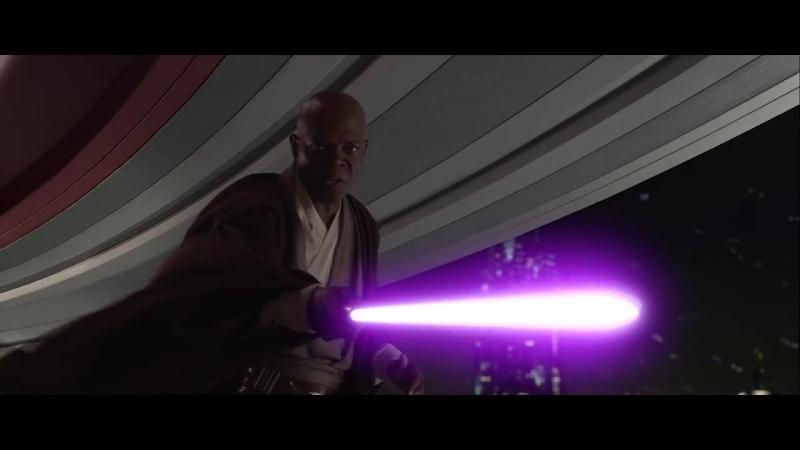 Звёздные войны Палпатин против Мэйса Винду Palpatin versus Mace Windu 1080HD