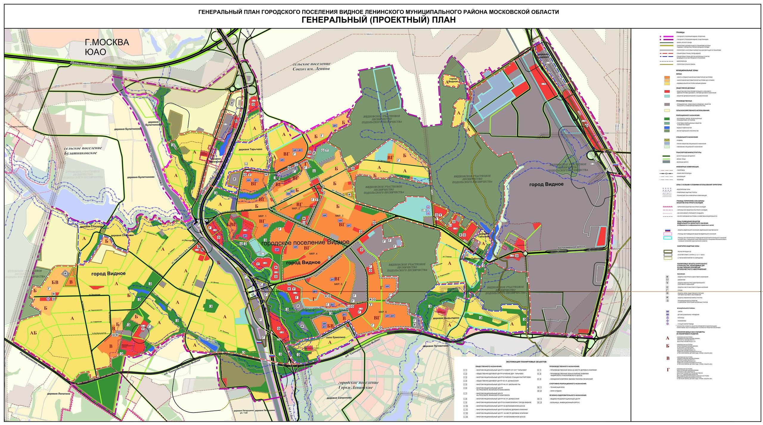 план развития города видное до 2020 фото