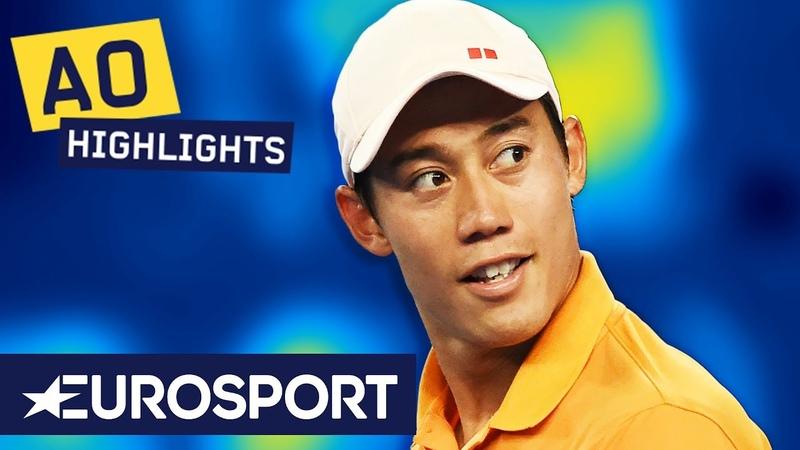 Kei Nishikori vs Pablo Carreño Busta Highlights   Australian Open 2019 Round 4   Eurosport