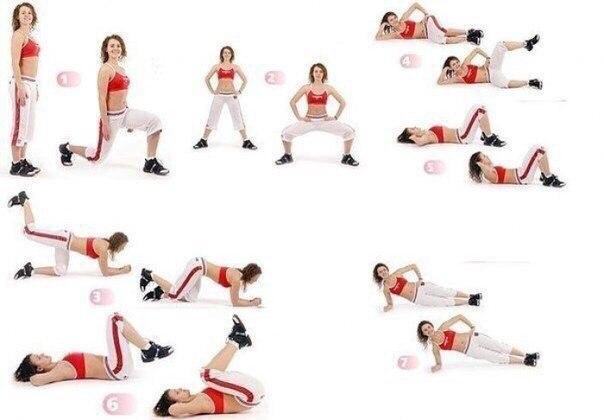 Эффективный комплекс упражнений для бедер и живота