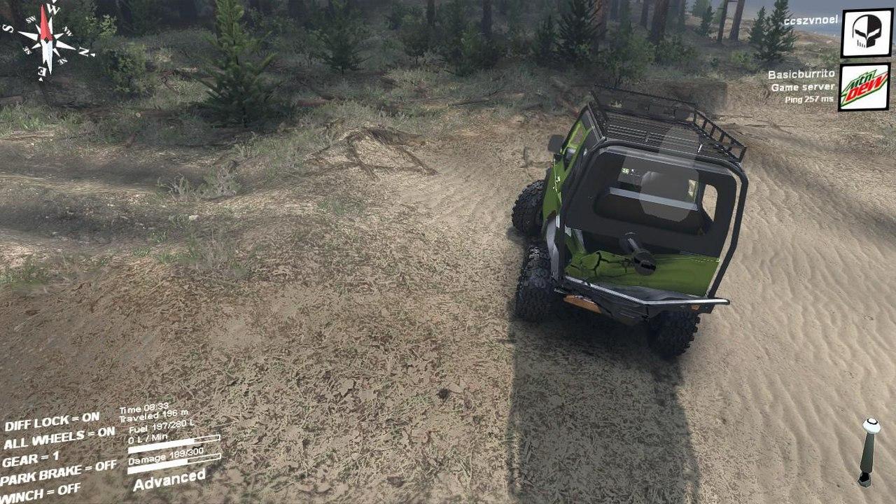 Suzuki samurai extreme для Spintires - Скриншот 3