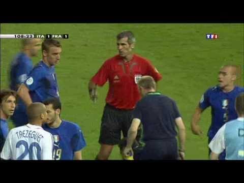 Italy 1 1 France 5 3 pen @ FIFA WC Final 2006 Zidane vs Materazzi