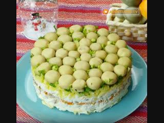 Праздничный, красивый и очень вкусный салат грибная поляна