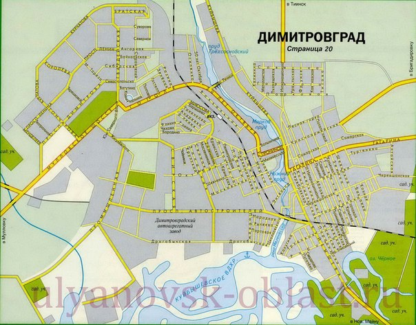 карта димитровграда