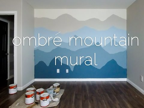 Ombré Mountains Mural Time Lapse