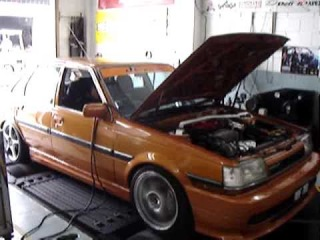 Toyota Corona ST150 with 3S-GE Beams on Dyno.