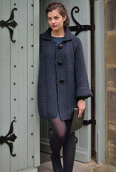 Элегантное пальто с широкими