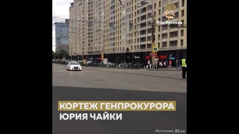 Кортеж Чайки в Екатеринбурге