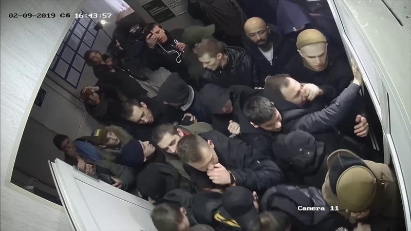 Відео спроби штурму Подільського УП ГУНП у м. Києві