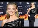 Beautiful in Black! Natalie Dormer at the Game of Thrones Season 8 Premiere in New York.