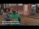 В Дзержинском с 11 этажа летят кирпичи