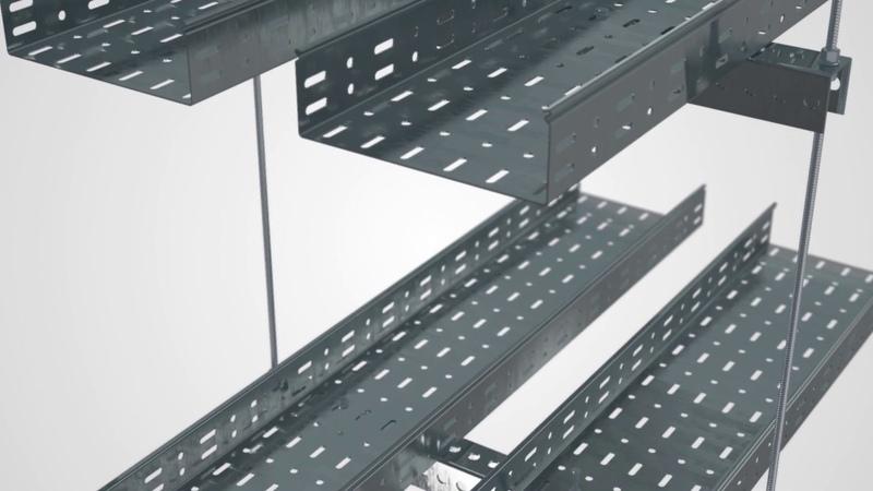 Новинка Прокладка кабельной трассы с использованием подвеса V-образного на профлисте