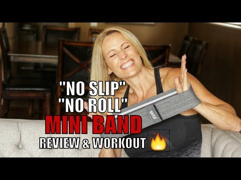 Hate It When The Mini Band Slips and Rolls? This One Doesn't! Glute Burner!