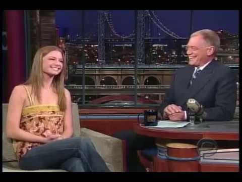 Emily VanCamp on Letterman — interview the Ring TwО (2005)