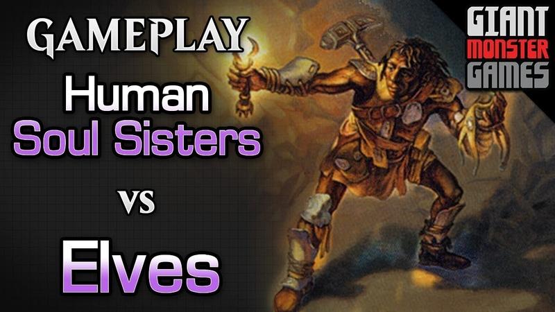 Human Soul Sisters vs Elves - MTGO Gameplay 02