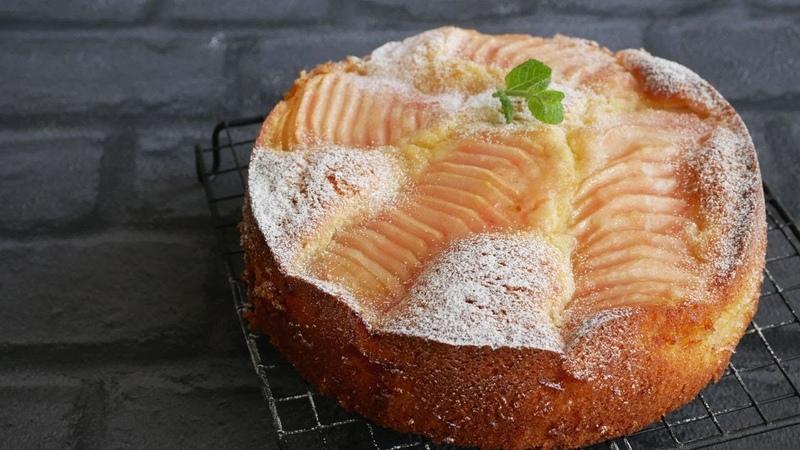 美味しすぎる! アーモンドたっぷりの洋梨ケーキ| Amazing Almond Asain pear Cake