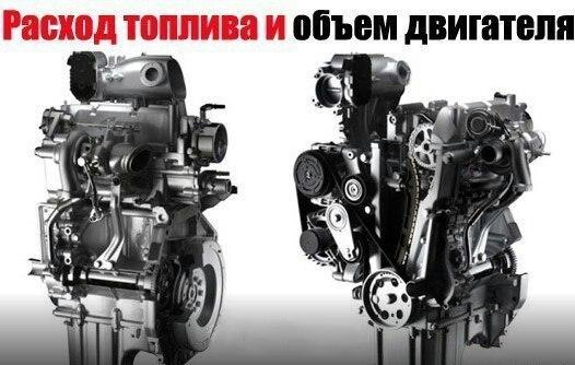 Расход топлива и объем двигателя Многих автолюбителей волнует вопрос – как связаны расход топлива и объем двигателя. Казалось было логично, что если больше объем двигателя (например – 2,0 или 2,5 литра), то тем и расход больше! А вот не всегда это так. Бывает, что двигатель объемом в 1,5 литра «кушает» больше, чем двигатель объемом в 2,0 литра. Почему так происходит? Итак, расход топлива и объем двигателя. В мозге рисуется логичная прямая: чем больше объем – тем больше в этот двигатель…