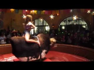 Webm девушка оседлала быка