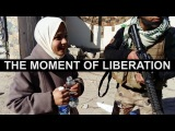 The joy and relief of two women when they see Iraqi Special Forces enter their town