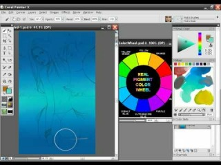 Bikini Babe Painter X painting tutorial with audio instructions Part 1/15