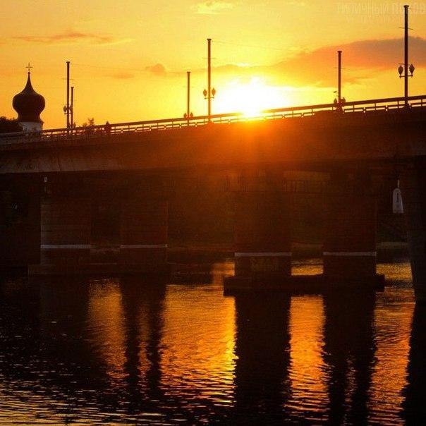 Ольгинский мост в [club75931526|Пскове]. #псков