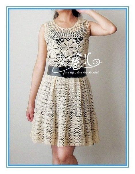 Красивое платье крючком (7 фото) - картинка