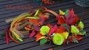 Канзаши Венок из Листьев Осенний Бал Kanzashi Hair Crown Autumn Leaves