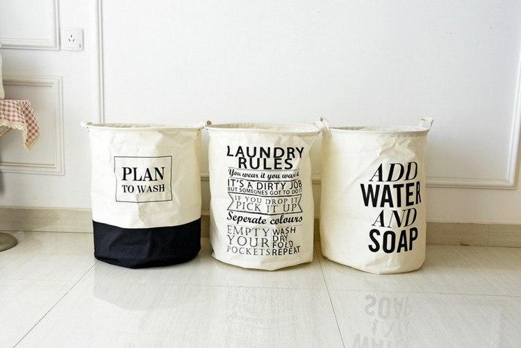 Тканевые корзины для белья или игрушек -