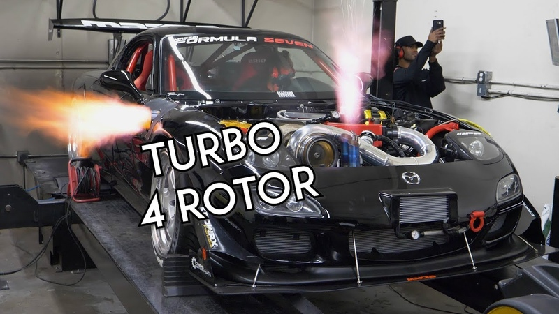 Turbo 4 Rotor RX-7 SCREAMS on the Dyno | Mazzei Formula