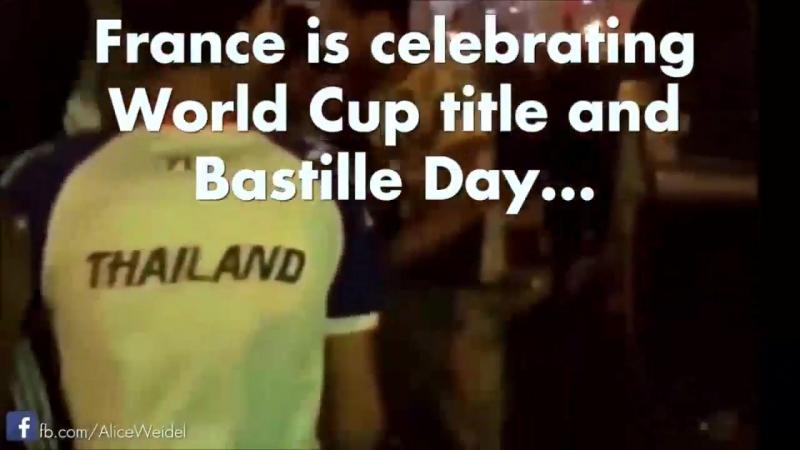Франция празднует День взятия Бастилии и победу на ЧМ 2018