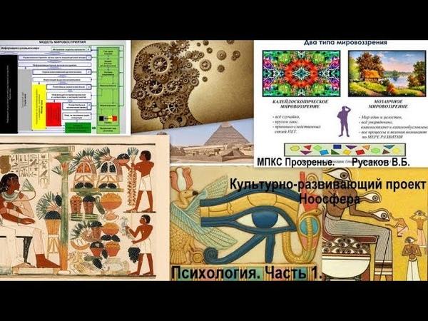 Культурно-развивающий проект Ноосфера. Психология. Часть 1.