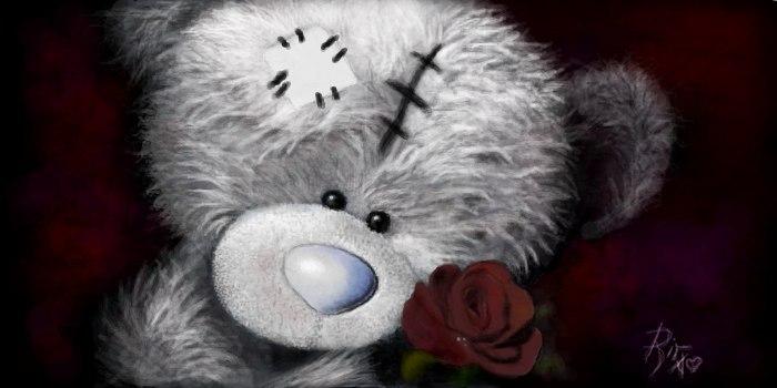 Живое граффити мишка Тедди