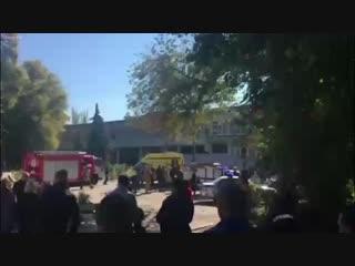 Керчь на месте происшествия взрыва.В политехническом колледже