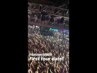 Juice WRLD's first tour date of his career and I get to see this for work. Fuck this is insane.