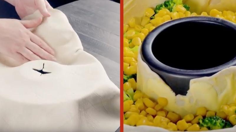 Кидаем овощи в форму для кекса. Как просто и оригинально!