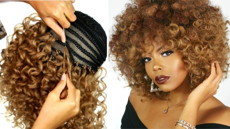 OMG CROCHET BRAID WIG TRANSFORMATION  HOW TO MAKE A WIG  PROTECTIVE STYLE  TRUSTTHYTRESS X TASTEPINK