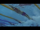 Micheal Phelps full dive dolphin kick (underwater view)