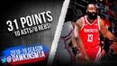 James Harden Full Highlights 2019.03.19 Rockets vs Hawks - 31 Pts, 10 Asts, 8 Rebs! | FreeDawkins