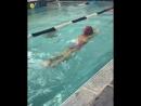 Инструктор по плаванию «MARINA CLUB» Ксения Пастушенко: Всего лишь первый урок по дельфину, а уже такая волна!