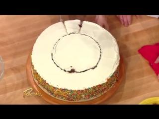 как разрезать торт на порции