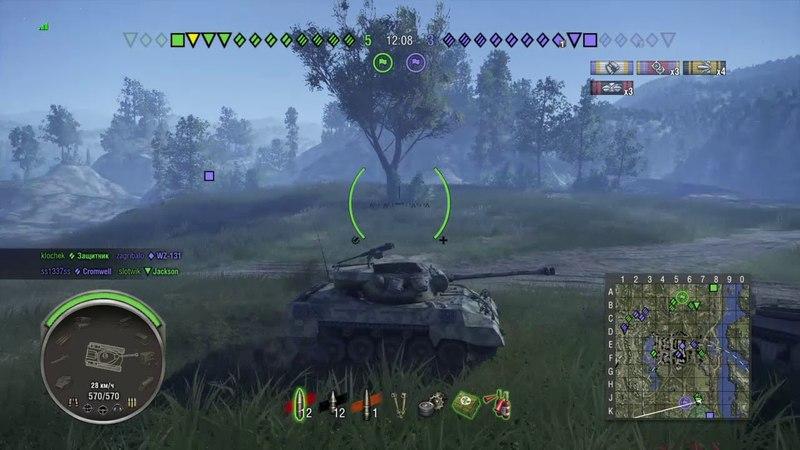 World of Tanks PS4 M18 Hellcat с головой тяжёлой
