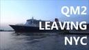 QM2 leaving NYC