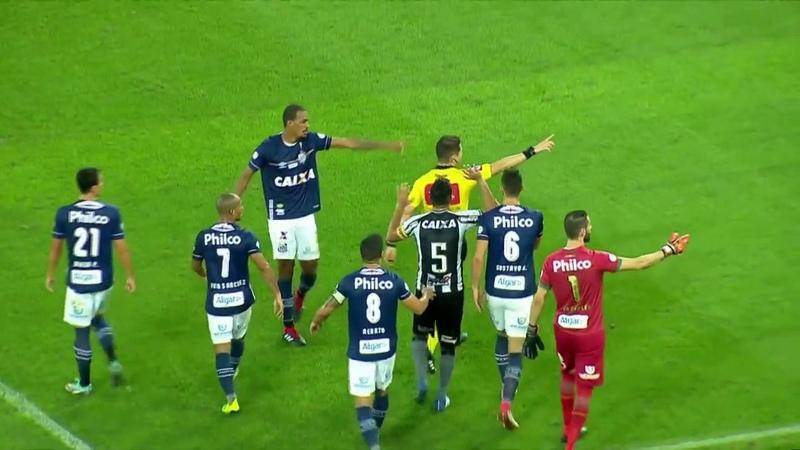 Botafogo x Santos - Campeonato Brasileiro (Confusão gol anulado)